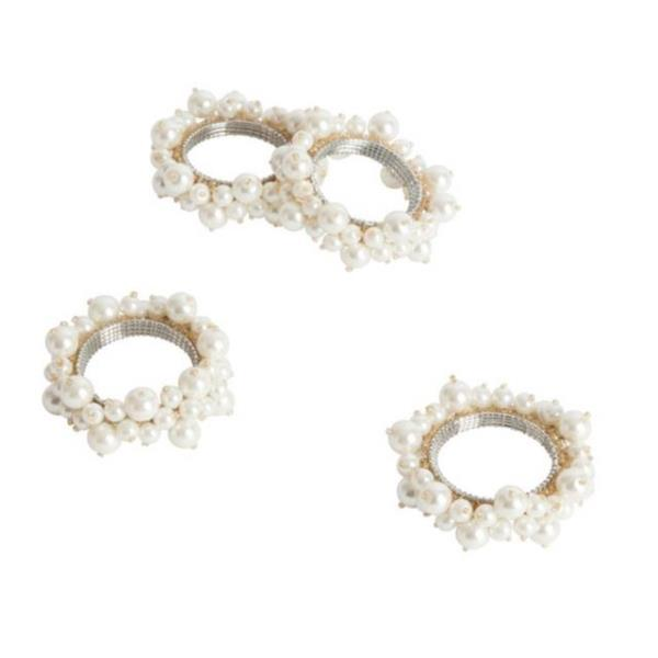 Where to find NAPKIN RINGS FAUX PEARL IVORY in Hamilton